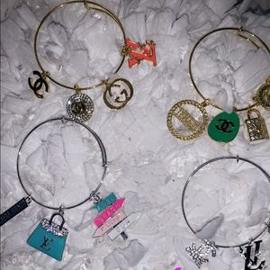 Designer charm bracelets